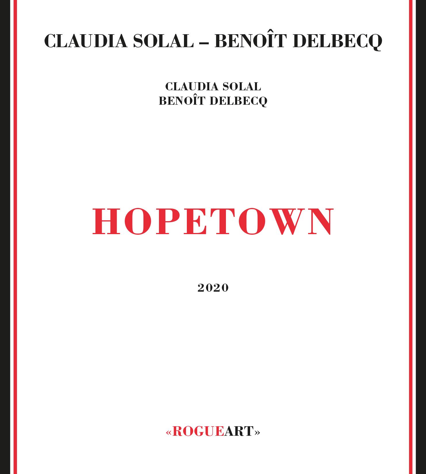 Recto de la pochette d'album de Hopetown - Claudia Solal & Benoît Delbecq