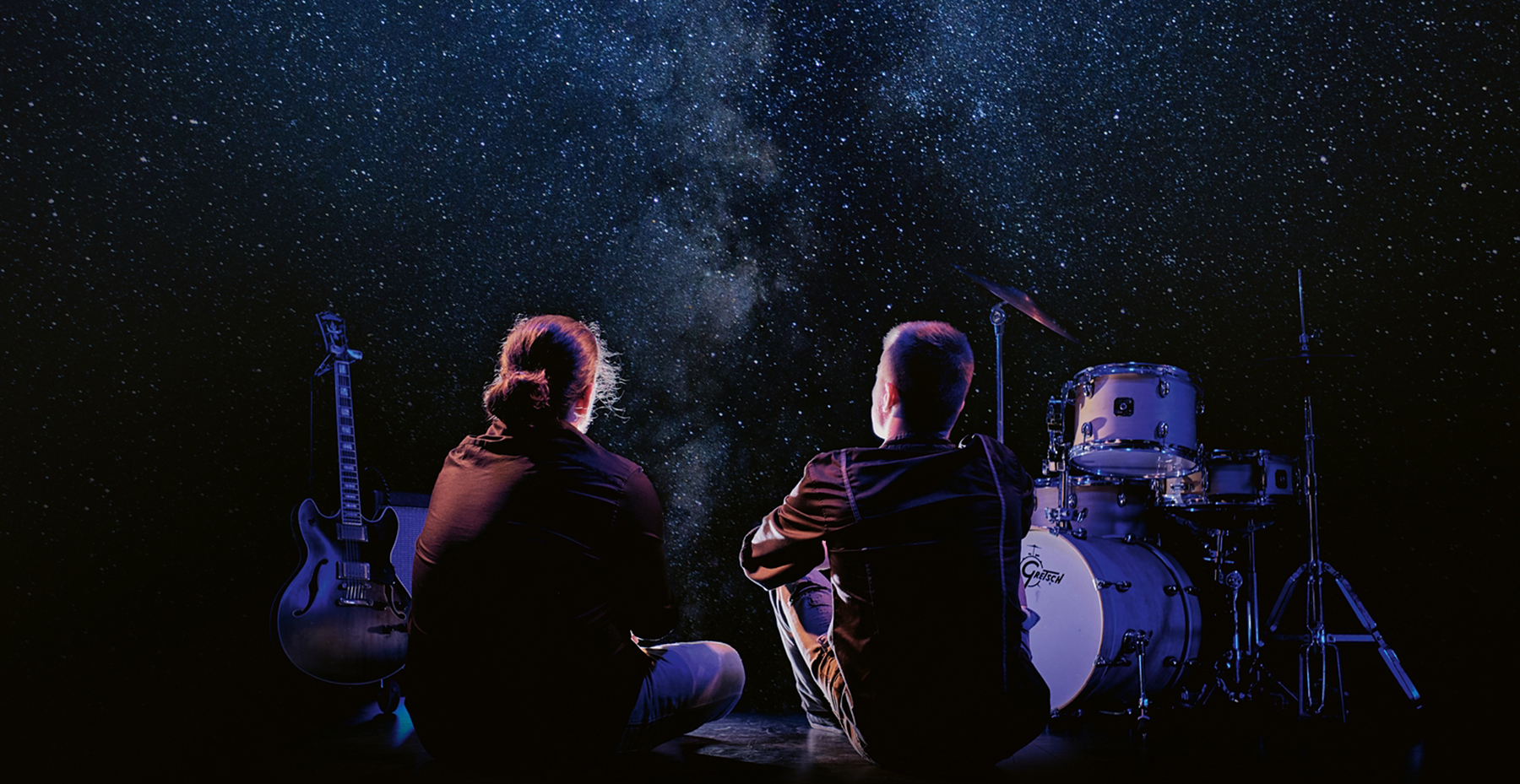Cosmos : Tom Juvigny, guitare et Victor Prost, batterie