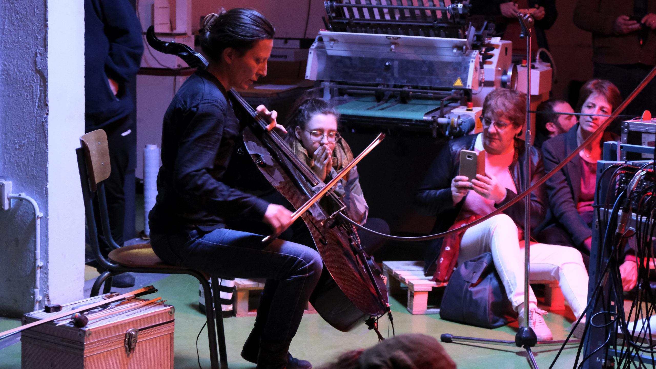 Aude Romary et son violoncelle