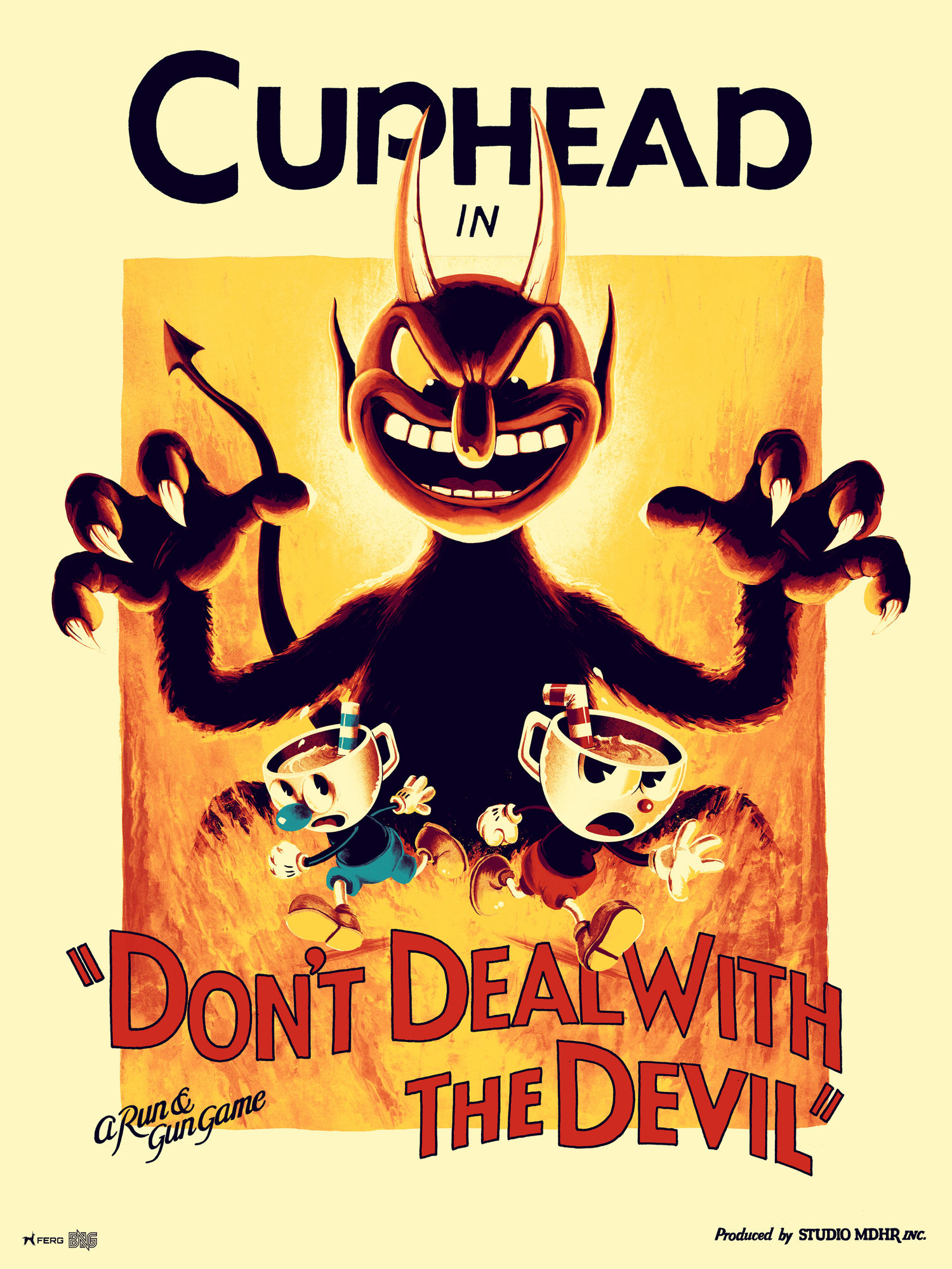 """Poster Cuphead """"Don't  Deal with the Devil"""""""