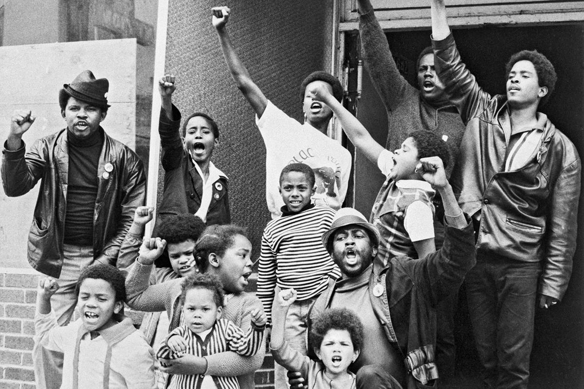 Le Black Panther Party lors d'une manifestation.