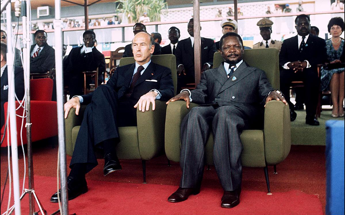 Valéry Giscard d'Estaing et Jean-Bedel Bokassa