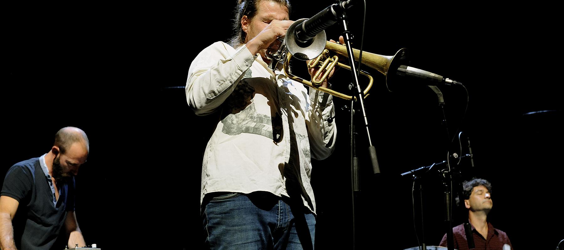 Aymeric Avice à la trompette, La Peuge en Mai au festival Météo 2020