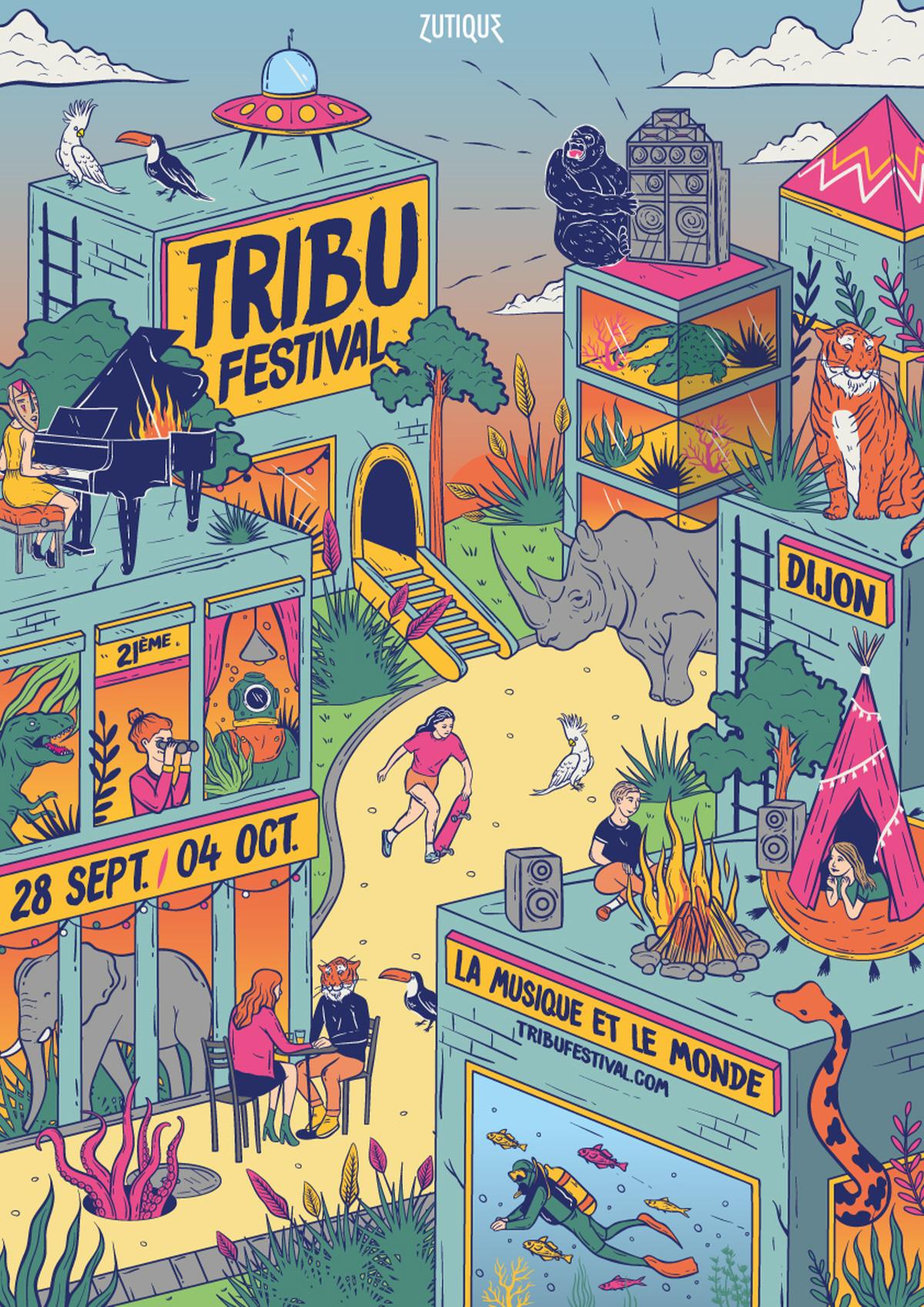 Illustration pour le Tribu Festival de 2020