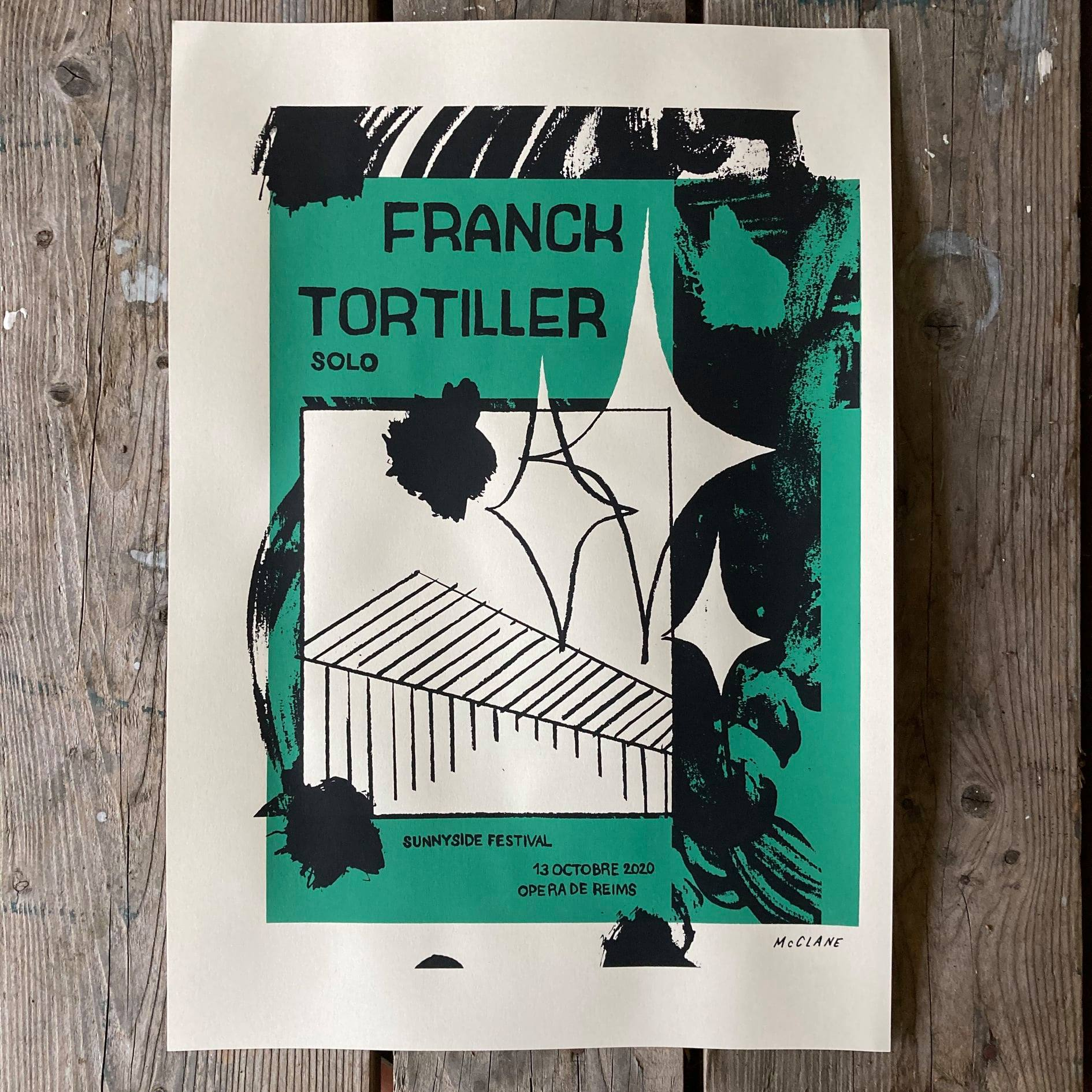 Affiche du duo Atelier Mcclane pour le solo de Franck Tortiller