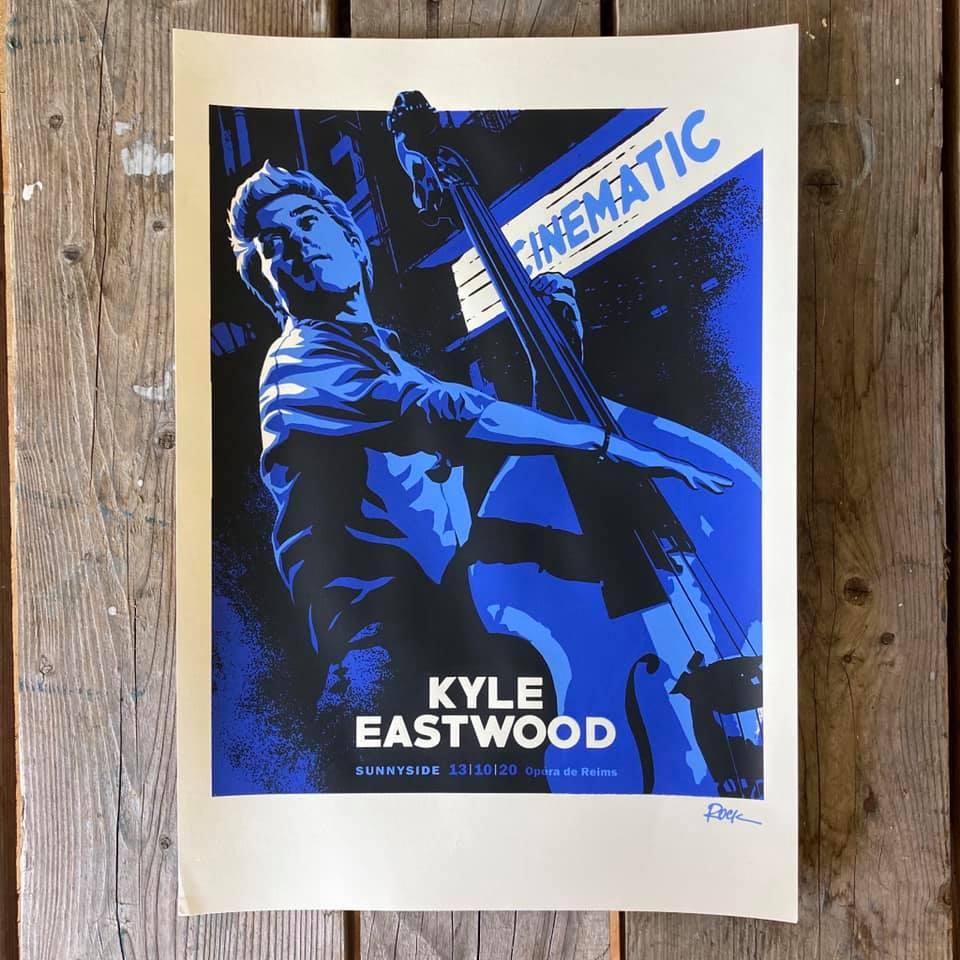 Affiche d'Ivan Rock pour le concert de Kyle Eastwood