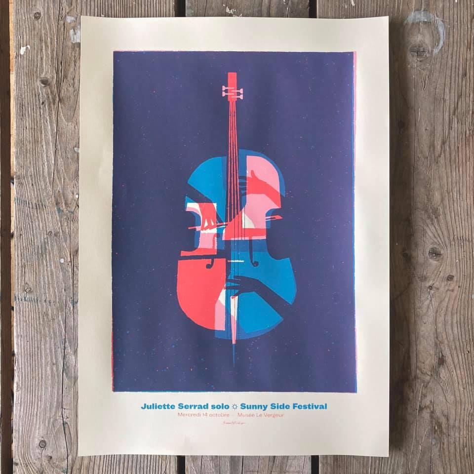 Affiche de Small Studio pour le solo de Juliette Serrad