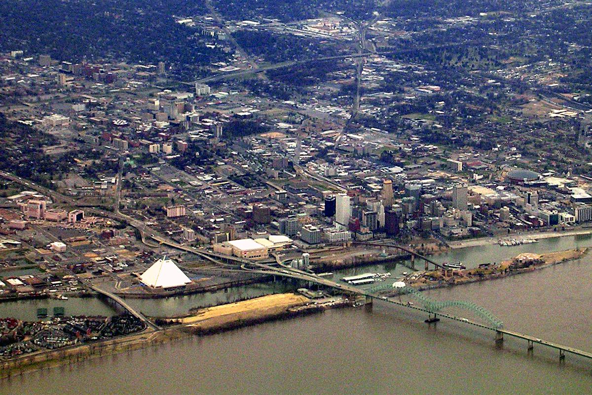 Vue aérienne de Memphis