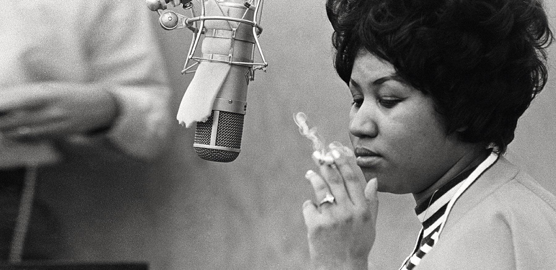 Aretha Franklin au studio Muscle Shoals en 1969